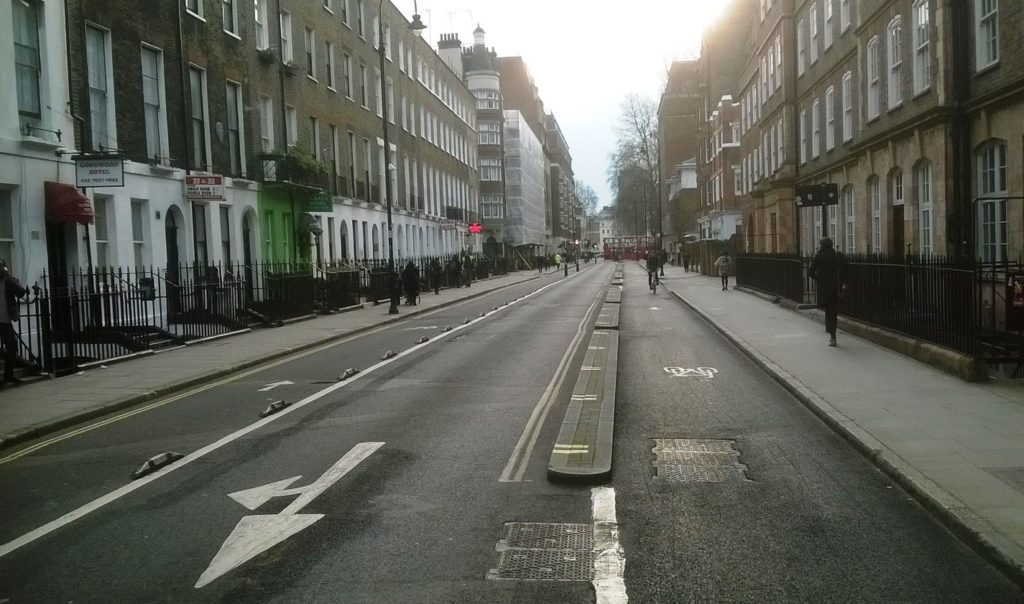 Bloomsbury cycle route.