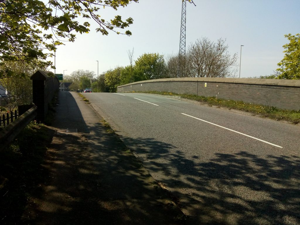 A414 rail bridge looking west