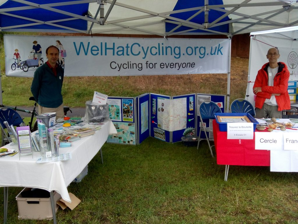 Our stall at the Welwyn Village Market