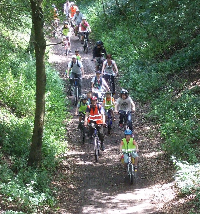 A group cycle ride along the Ayot Greenway led by Roger Moulding.