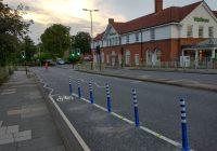 Cycle path on Hunters Bridge ending too soon at waitrose