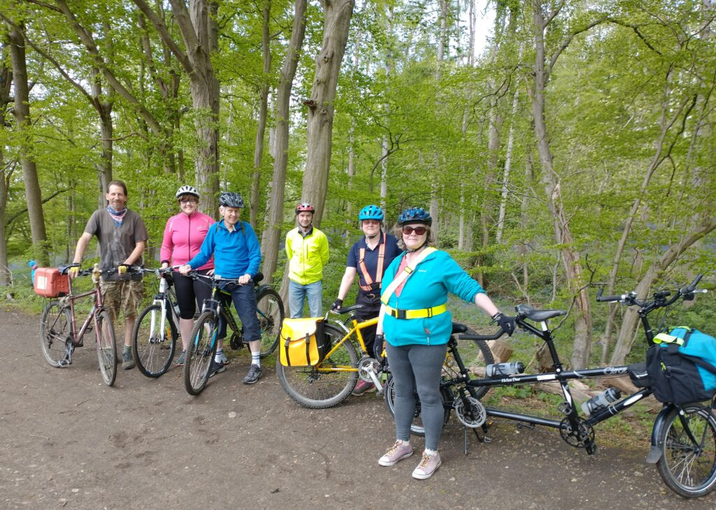 Group of people on cycles who were on the ride to Wheathampstead