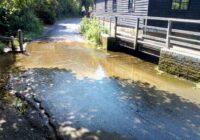 The Mimram ford on Fulling Mill Lane, Welwyn